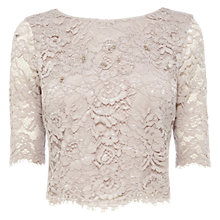 Buy Coast Selbessa Lace Top, Blush Online at johnlewis.com