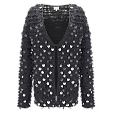 Buy East Sequin Loop Cardigan, Slate Online at johnlewis.com