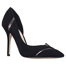 Buy Carvela Alma Asymmetric High Heeled Stiletto Court Shoes, Black Online at johnlewis.com