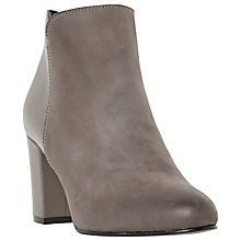Buy Dune Palleto Block Heeled Ankle Boots, Grey Leather Online at johnlewis.com