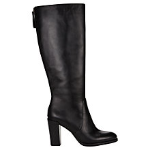 Buy Jigsaw Collette Block Heeled Knee High Boots, Black Leather Online at johnlewis.com