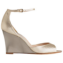 Buy L.K. Bennett Coco Wedge Heeled Sandals, Soft Gold Leather Online at johnlewis.com