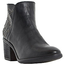 Buy Dune Patty Stacked Heel Bead Detail Ankle Boots Online at johnlewis.com