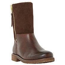 Buy Dune Russell Contrast Warm Lined Calf Boots, Tan Leather Online at johnlewis.com
