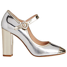 Buy L.K. Bennett Marla Mary Jane Block Heels, Silver Online at johnlewis.com