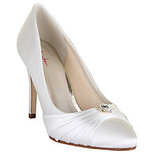 Buy Rainbow Club Jemma Jewel Embellished Court Shoes, Ivory Satin Online at johnlewis.com