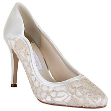 Buy Rainbow Club Lorna Satin Stiletto Court Shoes, Ivory Satin Online at johnlewis.com