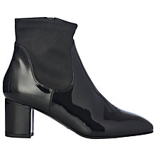 Buy L.K. Bennett Shelley Block Heeled Ankle Boots, Black Patent Leather Online at johnlewis.com