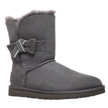 Buy UGG Jasmine Suede Swarowski® Crystal Bow Detail Ankle Boots Online at johnlewis.com