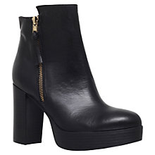 Buy Carvela Supremo High Heel Ankle Boots, Black Leather Online at johnlewis.com
