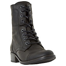 Buy Dune Rey Lace-Up Biker Boots Online at johnlewis.com