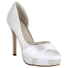 Buy Rainbow Club Kelis Asymmetric Platform Court Shoes, Ivory Satin Online at johnlewis.com