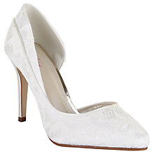 Buy Rainbow Club Jessica Asymmetric Court Shoes, Ivory Satin Online at johnlewis.com