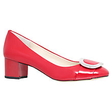 Buy MICHAEL Michael Kors Pauline Block Heeled Pumps, Red Patent Online at johnlewis.com