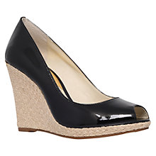 Buy MICHAEL Michael Kors Keegan Wedge Heeled Sandals, Black Patent Online at johnlewis.com