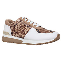 Buy MICHAEL Michael Kors Allie Flat Trainer, Tan Comb Leather Online at johnlewis.com