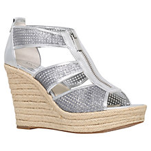 Buy MICHAEL Michael Kors Damita High Wedge Heeled Sandals Online at johnlewis.com