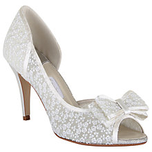 Buy Rainbow Club Paloma Bow Detail Asymmetric Courts, Ivory Lace Online at johnlewis.com