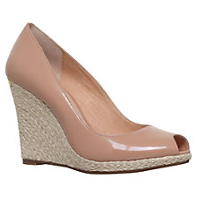 Buy Michael Michael Kors Keegan Peep Toe Wedge Heeled Sandals, Nude Online at johnlewis.com