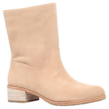 Buy MICHAEL Michael Kors Pierce Block Heeled Ankle Boots, Beige Online at johnlewis.com