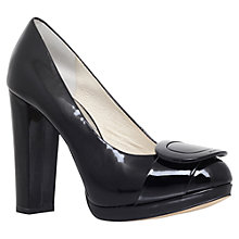 Buy MICHAEL Michael Kors Pauline High Platform Court Shoes, Black Patent Online at johnlewis.com