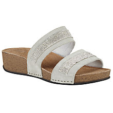Buy John Lewis Diamond Two Strap Sandals, Grey Online at johnlewis.com