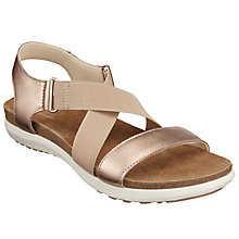Buy John Lewis Designed for Comfort Lillian Cross Strap Sandals, Natural Leather Online at johnlewis.com