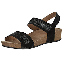 Buy John Lewis Diamond Two Strap Sandals, Black Online at johnlewis.com