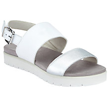 Buy John Lewis Designed for Comfort Laysan Flatform Sandals, White Online at johnlewis.com