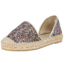 Buy John Lewis Nola Two Part Espadrilles, Glitter/Multi Online at johnlewis.com