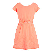 Buy John Lewis Girls' Embroidered Dress, Neon Pink Online at johnlewis.com