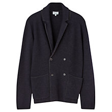 Buy Jigsaw Speckled Milano Knit Double Breasted Blazer, Navy Online at johnlewis.com