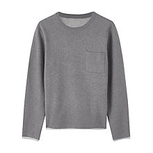 Buy Jigsaw Cotton Double Crew Neck Jumper Online at johnlewis.com