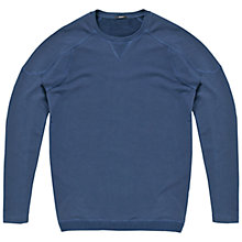 Buy Denham Carver Sweater, Blue Online at johnlewis.com