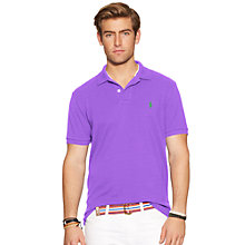 Buy Polo Ralph Lauren Short Sleeve Polo Shirt, Spring Lilac Online at johnlewis.com