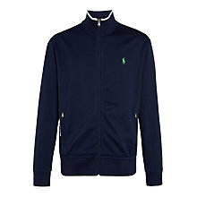 Buy Polo Ralph Lauren Zip Through Jersey Top, French Navy Online at johnlewis.com