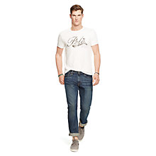 Buy Polo Ralph Lauren Short Sleeve Crew Neck T-Shirt, Deckwash White Online at johnlewis.com