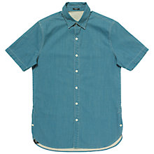 Buy Denham Aires Short Sleeve Shirt, Indigo Online at johnlewis.com