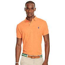 Buy Polo Ralph Lauren Custom Fit Mesh Polo Shirt, Spring Melon Heather Online at johnlewis.com