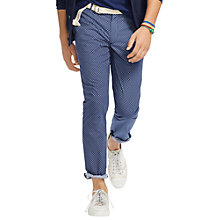 Buy Polo Ralph Lauren Straight Fit Trousers, Indigo Diamond Online at johnlewis.com