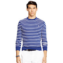 Buy Polo Ralph Lauren Club Terry Crew Neck Sweatshirt, Fall Royal/Classic White Online at johnlewis.com