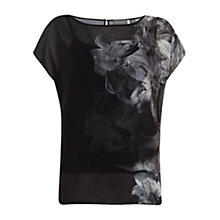 Buy Mint Velvet Hayley Photographic Layered Top, Black Online at johnlewis.com