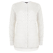 Buy Mint Velvet Pearl Print Blouse, Ivory Online at johnlewis.com