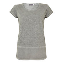 Buy Mint Velvet Woven Hem Tee, Green Online at johnlewis.com