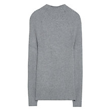 Buy Mango Funnel Neck Jumper, Medium Grey Online at johnlewis.com