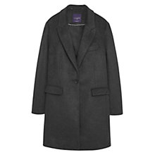 Buy Violeta by Mango Pocket Wool-Blend Coat, Heather Grey Online at johnlewis.com