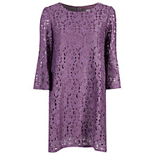 Buy True Decadence Lace Swing Dress, Purple Online at johnlewis.com