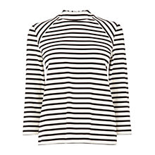 Buy Oasis High Neck Top, Black/White Online at johnlewis.com