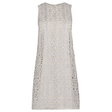 Buy Oasis Metallic Lace Shift Dress, Silver Online at johnlewis.com