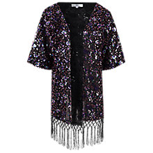 Buy True Decadence Sequin Kimono, Purple Online at johnlewis.com